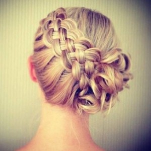 side bun and braid