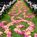 rose petals and decorations