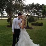 under wedding dress