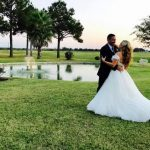romantic wedding photo at house estate