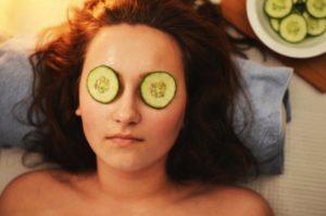 woman girl beauty mask treatment