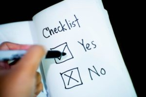 wedding checklist hygiene