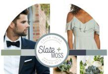 round slate and moss