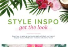 Tropical Flower Styling tips