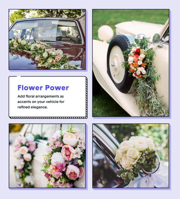 wedding car decor ideas