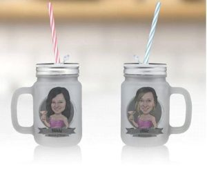Caricature Mason Jars