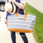 Striped Canvas Bag
