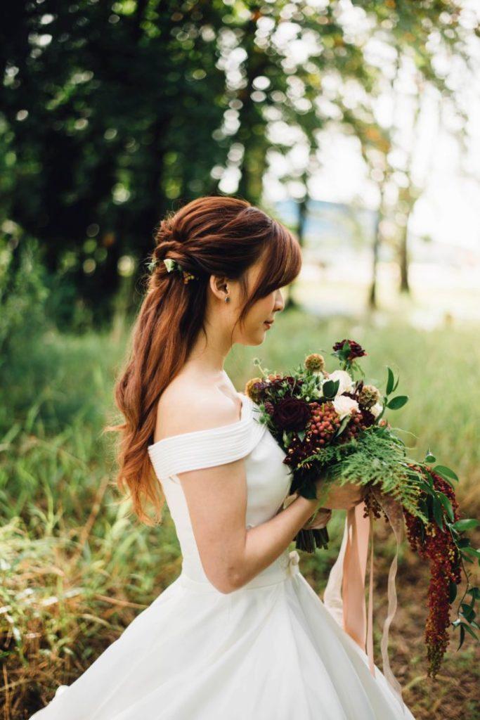 wedding hair theme simple