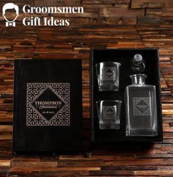 glass wedding gift set