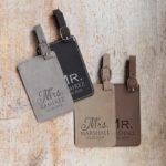 Personalized Mr and Mrs Luggage Tags Pair